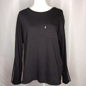 LEVI'S Black Long Sleeve Top Sz XL